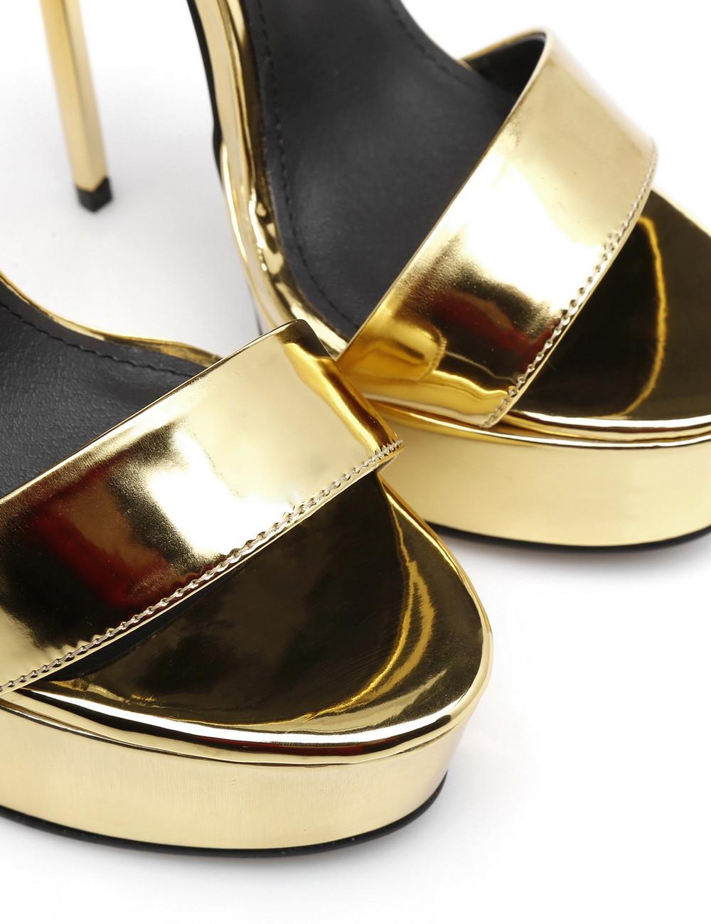 """Giaro Gold shiny Giaro """"Galana"""" sandals"""