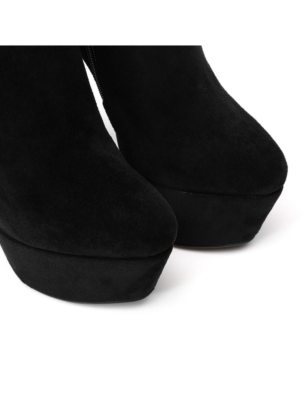 """Giaro Black Velour Giaro """"Destroyer"""" ankle boots"""