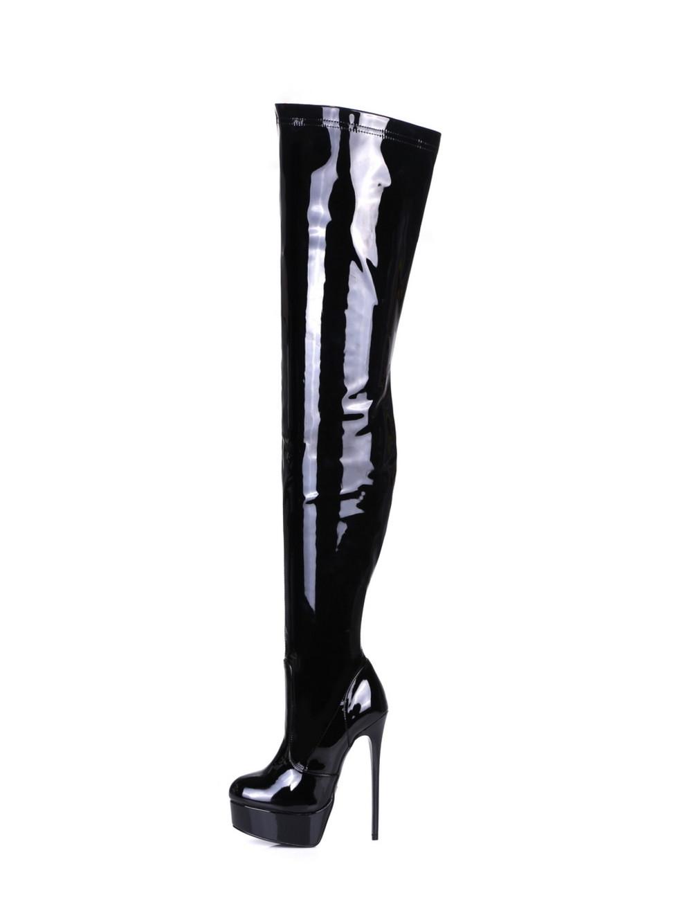 "Giaro Black shiny Giaro ultra ""Galana"" thigh boots"
