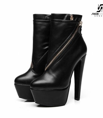 "Giaro Black  Giaro ""Destroyer"" ankle boots with zippers"