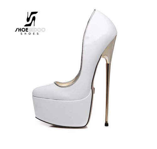 Giaro SLICK HERO 1001 | WHITE SHINY | PLATFORM PUMP
