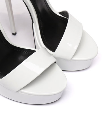 "Giaro White shiny Giaro ""Galana"" sandals"