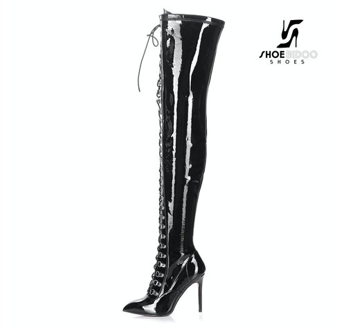 Giaro VERUSKA 1004 | BLACK | LACE-UP THIGH BOOTS