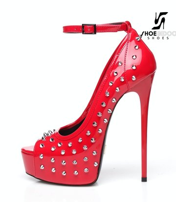 "Giaro Red shiny Giaro ""Galana"" platforms with spikes"