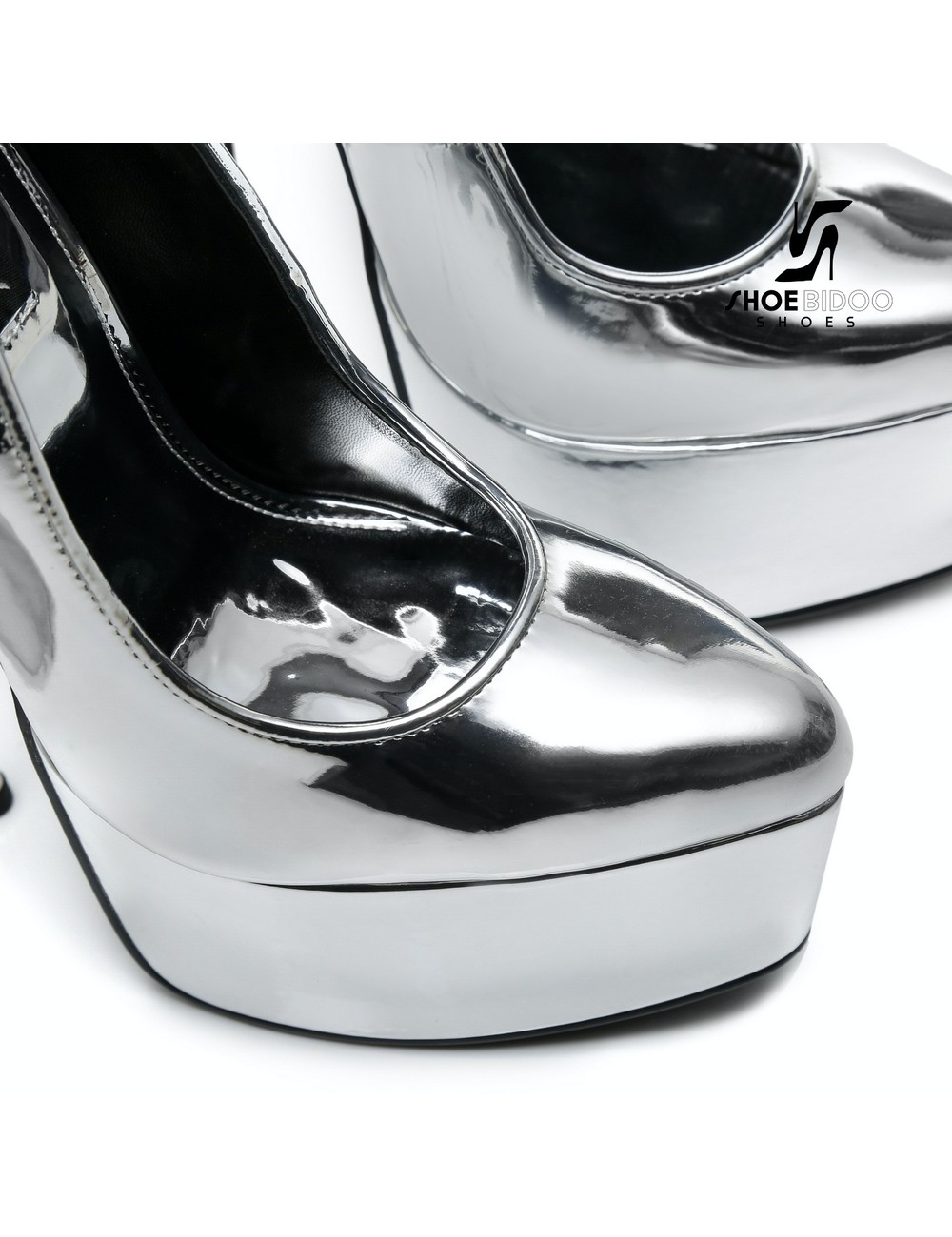 Giaro SLICK Liquid Silver Giaro SLICK ESCALA platform pumps with silver heels