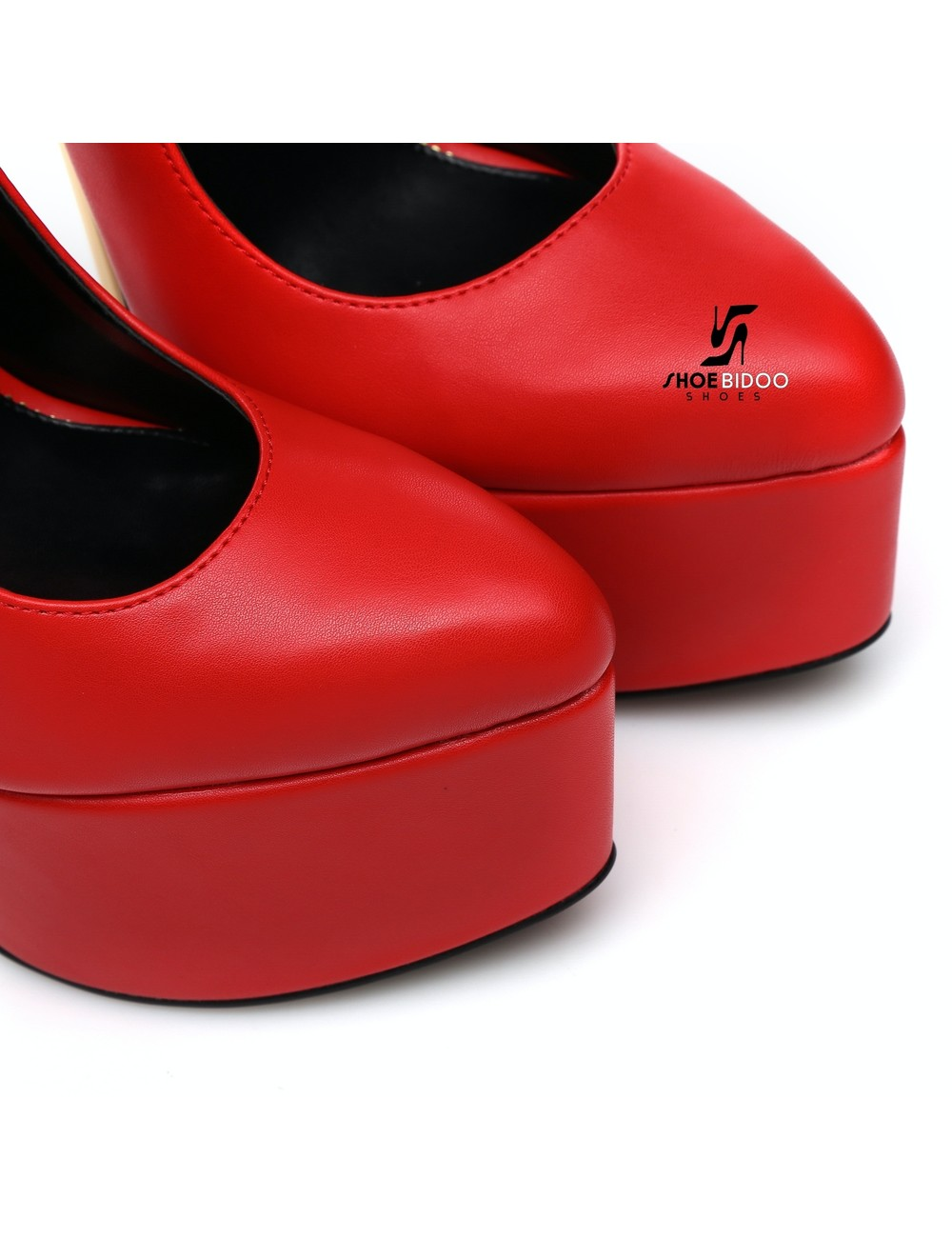 Giaro SLICK Red ESSENCE Giaro SLICK platform pumps with locking ankle strap