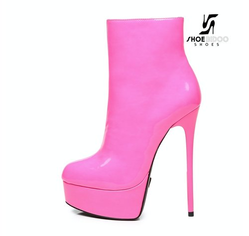 Giaro GALANA 1005 | PINK SHINY | PLATFORM ANKLE BOOTS *PREORDER*