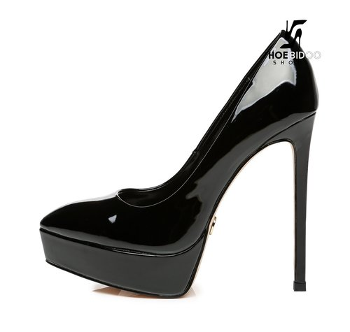 Giaro SCANT | BLACK SHINY | PLATFORM FASHION PUMPS