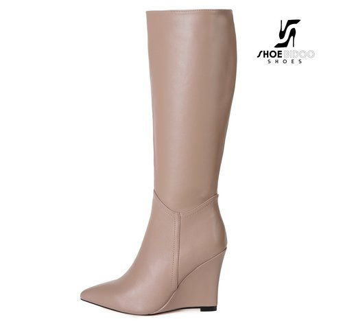 Giaro ELLA | TAUPE | WEDGE KNEE BOOTS