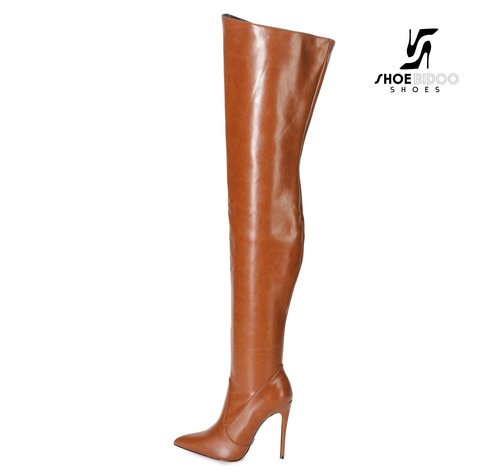 Giaro ARABELLA | BROWN MATTE | THIGH BOOTS