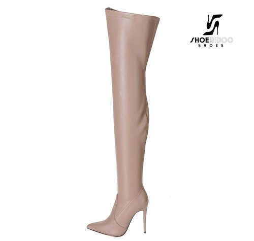 Giaro ARABELLA | TAUPE MATTE | THIGH BOOTS