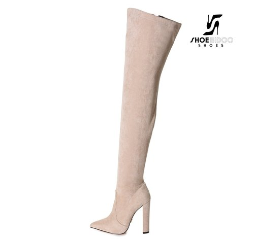 Giaro TRINKET | BEIGE SUEDE | FASHION THIGH BOOTS