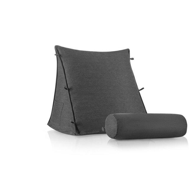 Relax Kussen - 3D Piramide met nekrol - zitkussen - leeskussen