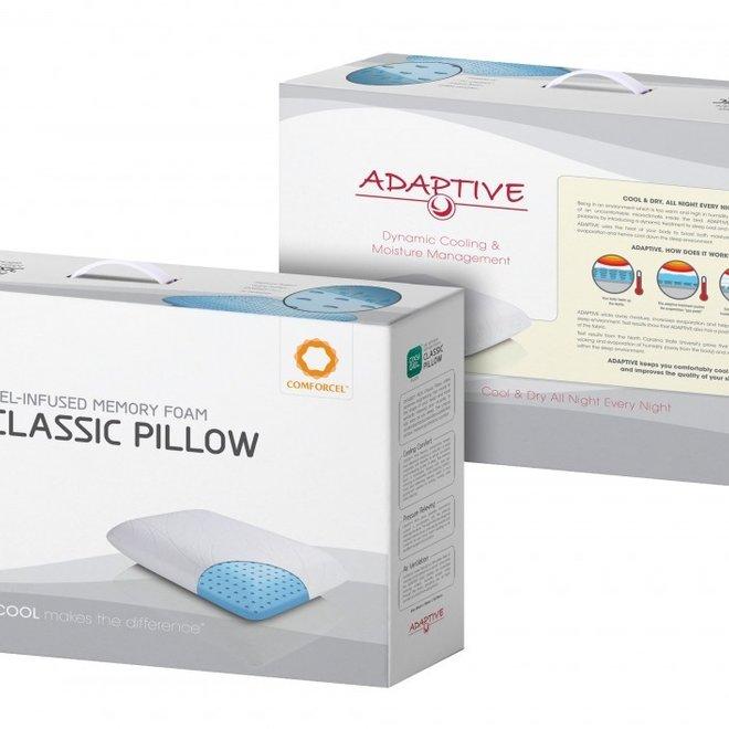 Hoofdkussen OXYGEL FLEX™ CLASSIC - memory foam + ADAPTIVE ®