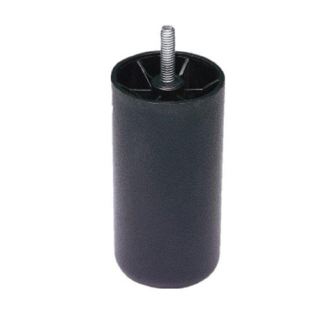 Boxspring Poten zwart 12cm - set a 6 stuks