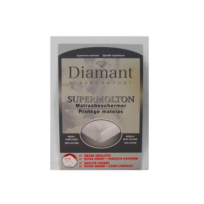 Supermolton matrasbeschermer 100% katoen