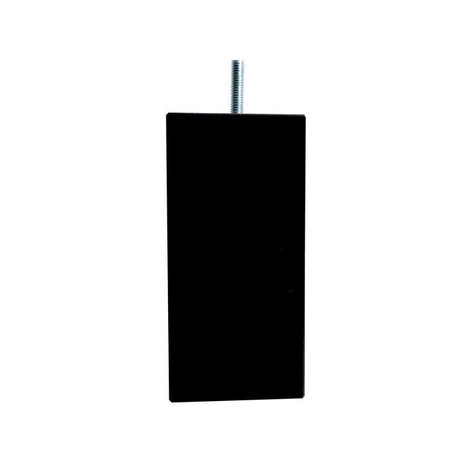 Boxspring poten vierkant zwart 15cm