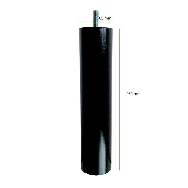 Boxspring poten rond zwart 25cm