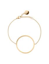 Circle armband kleur mat goud