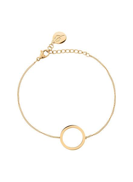 Edblad Circle armband (small) kleur mat goud
