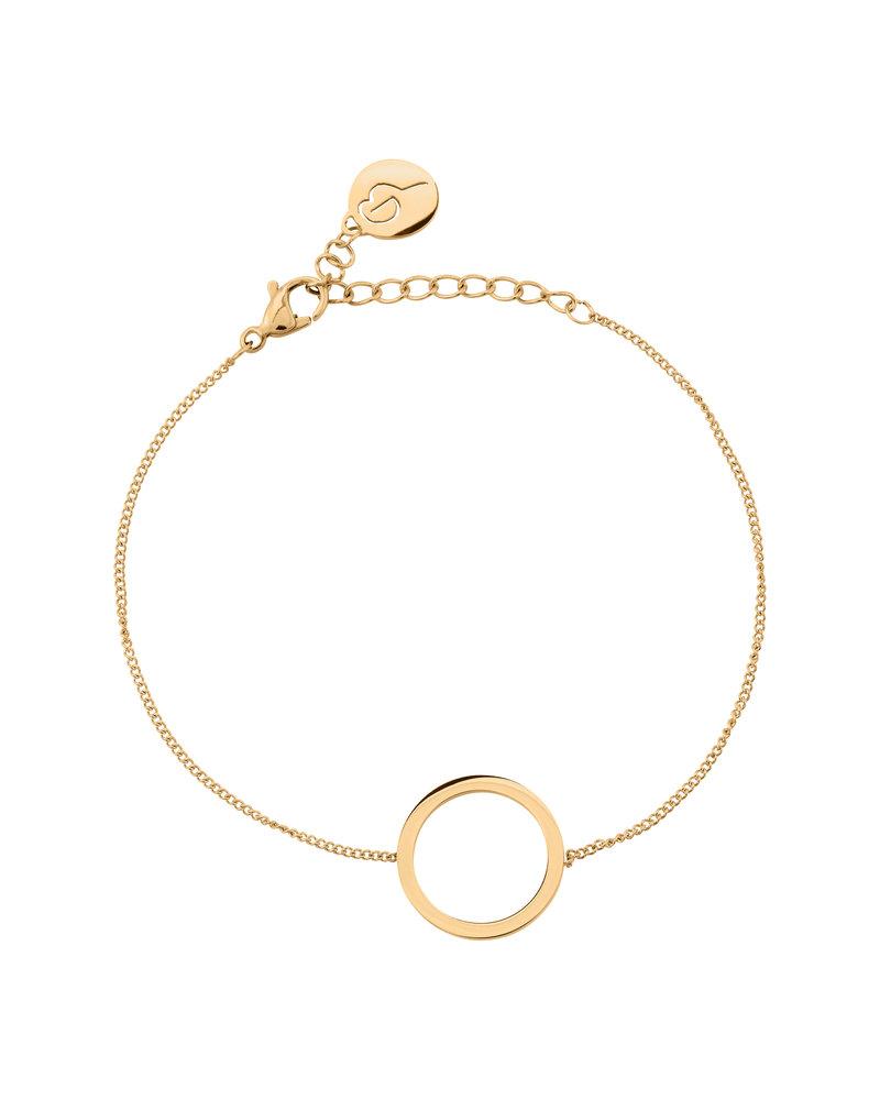 Edblad Circle armband small | kleur mat goud