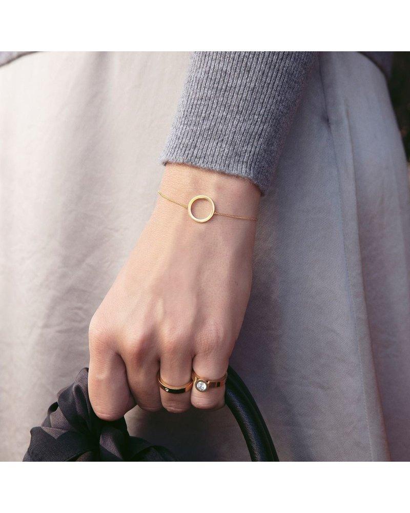 Edblad  Edblad Circle armband small | kleur mat goud
