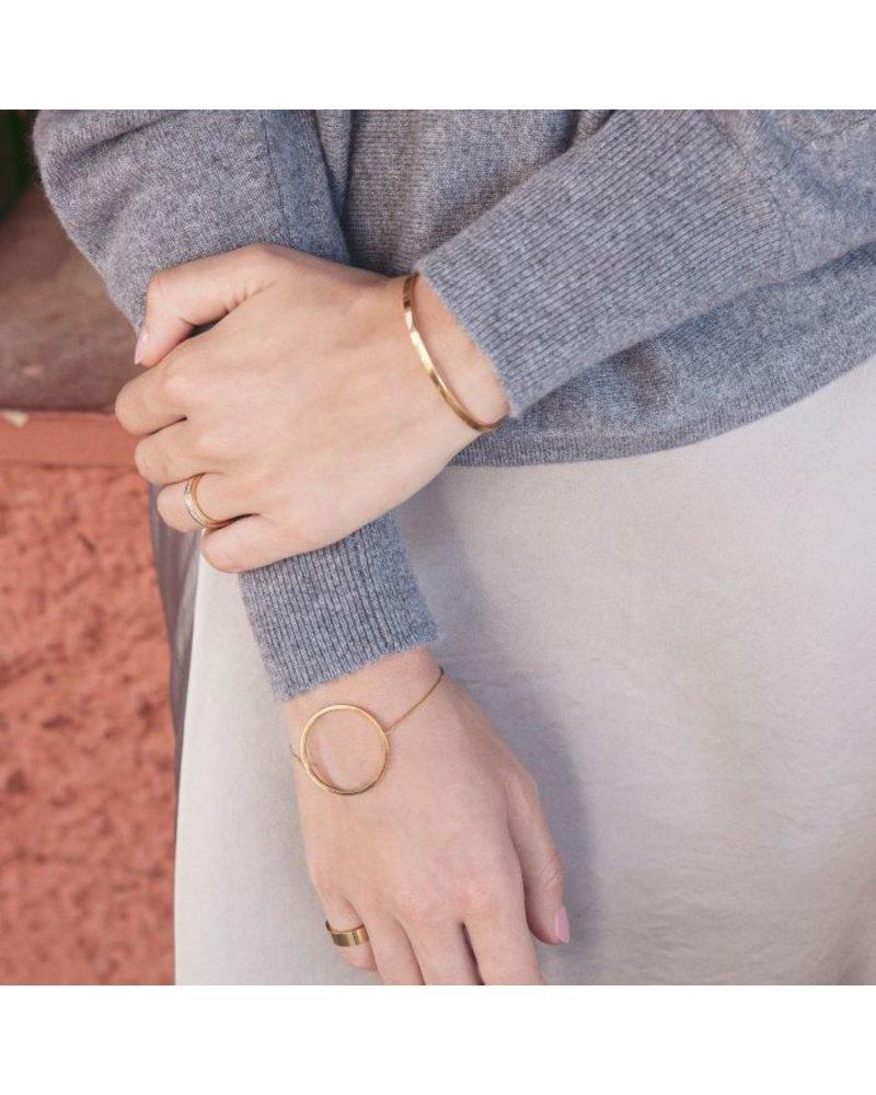 Edblad Edblad Circle bangle armband | kleur mat goud
