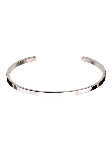 Circle bangle armband kleur zilver