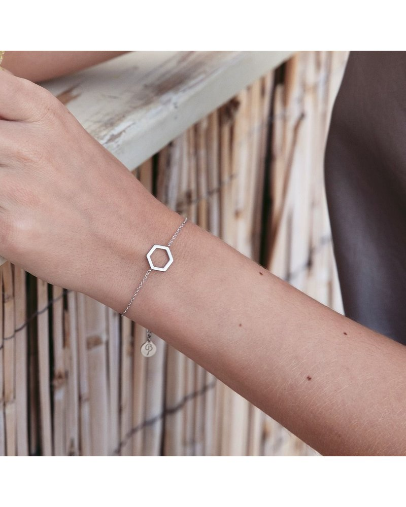 Edblad Edblad Hexagon armband | kleur zilver
