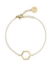 Edblad Hexagon armband kleur goud