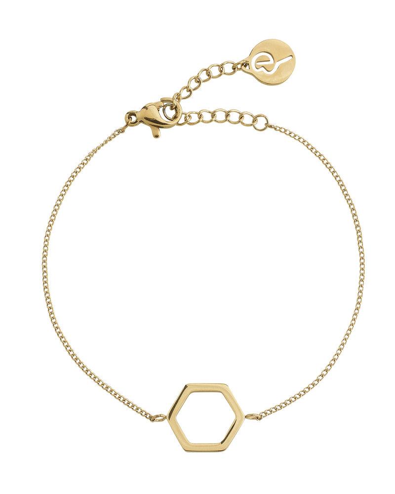 Edblad Edblad Hexagon armband | kleur goud