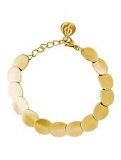 Pebble armband kleur goud