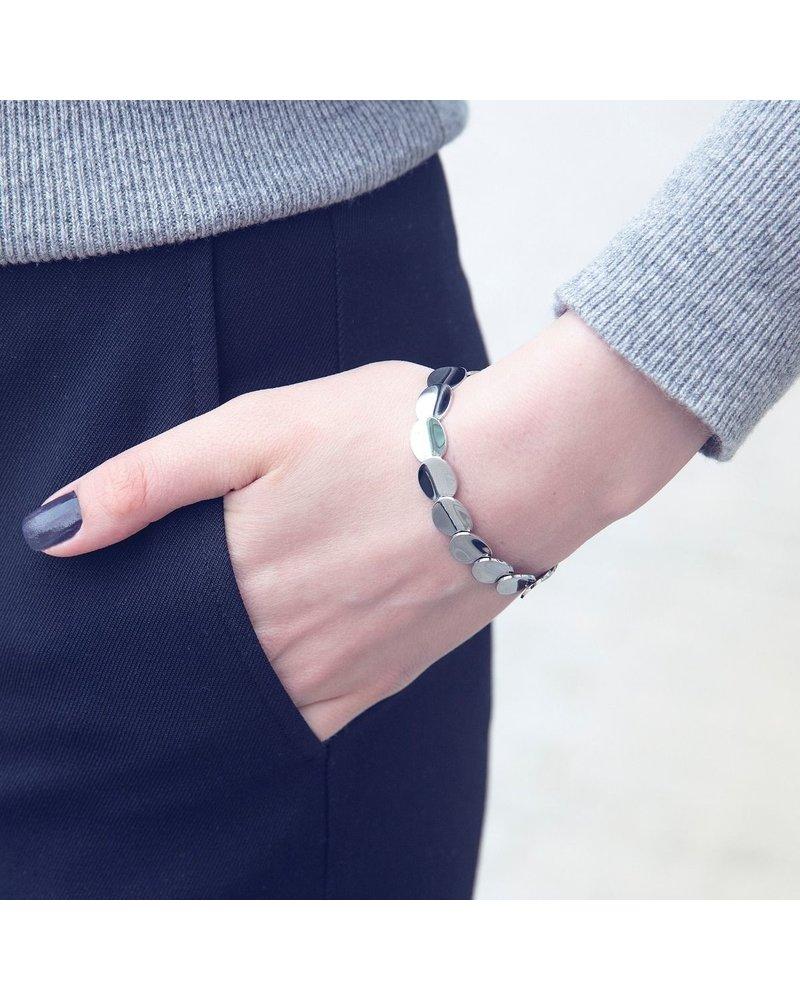 Edblad Edblad Pebble armband | kleur zilver