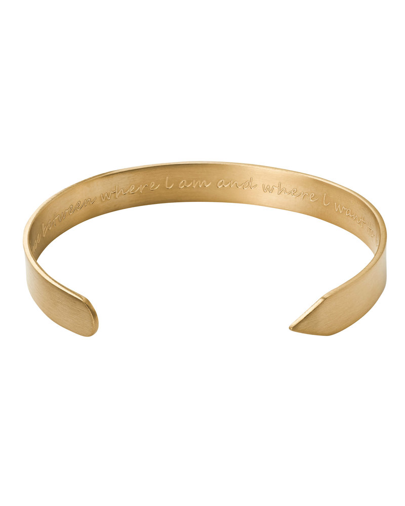 Edblad Thought bangle| kleur mat goud