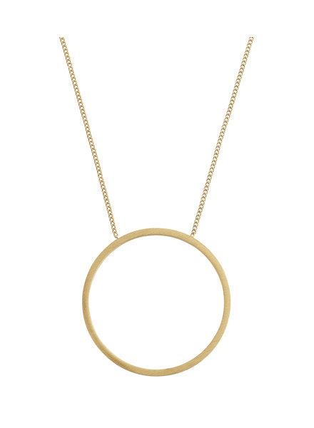 Circle ketting mat goud
