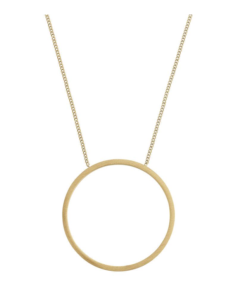 Edblad Circle ketting | kleur mat goud