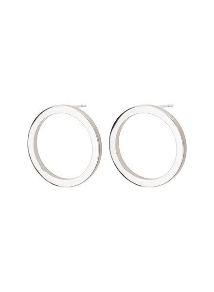 Edblad Circle oorbellen (klein) zilver
