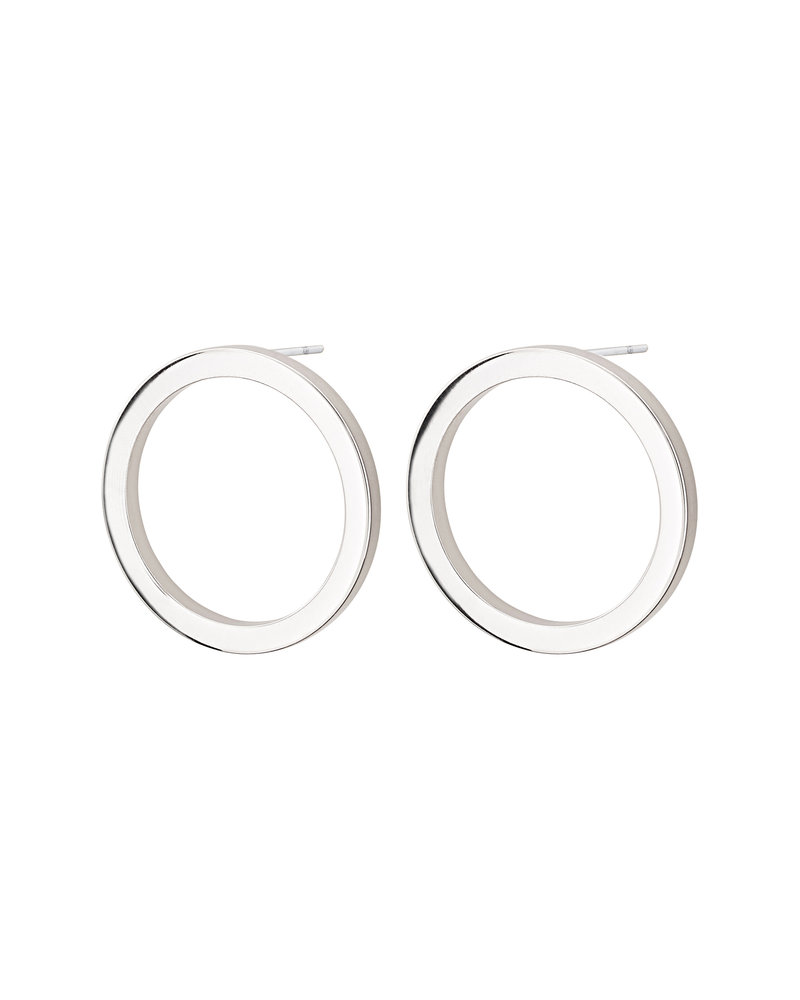 Edblad Circle oorbellen klein | kleur zilver