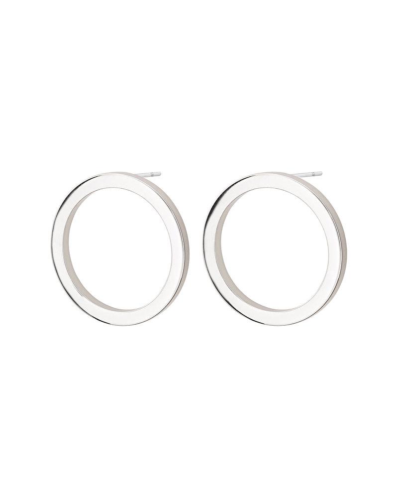 Edblad Edblad Circle oorbellen klein | kleur zilver