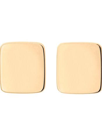 Shapes rectangle oorbellen goud