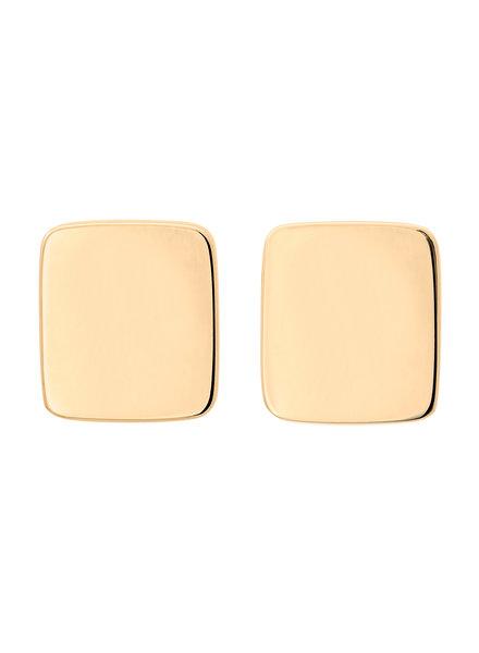 Edblad Shapes rectangle oorbellen goud