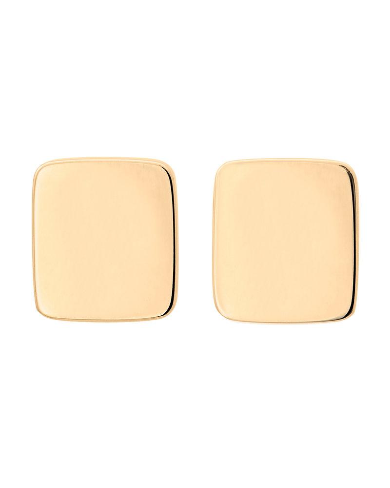 Edblad Shapes rectangle oorbellen   kleur goud