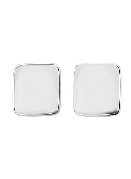 Shapes rectangle oorbellen  zilver