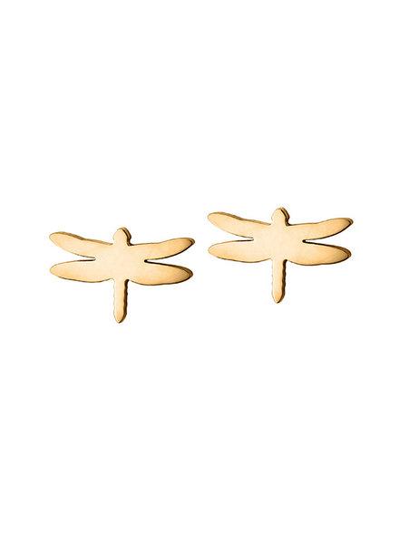 Dragonfly oorbellen goud