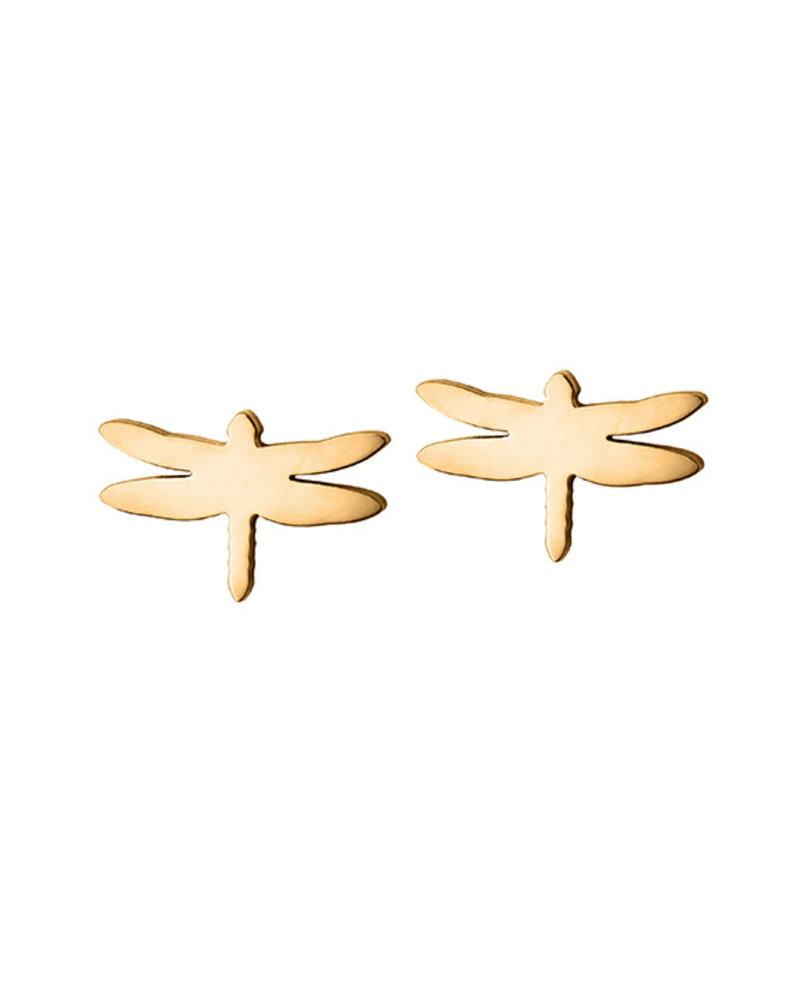 Edblad Dragonfly oorbellen | kleur goud
