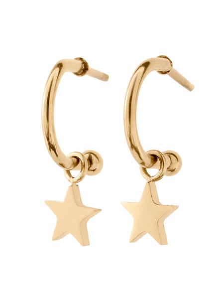 Bright Night Star oorbellen goud