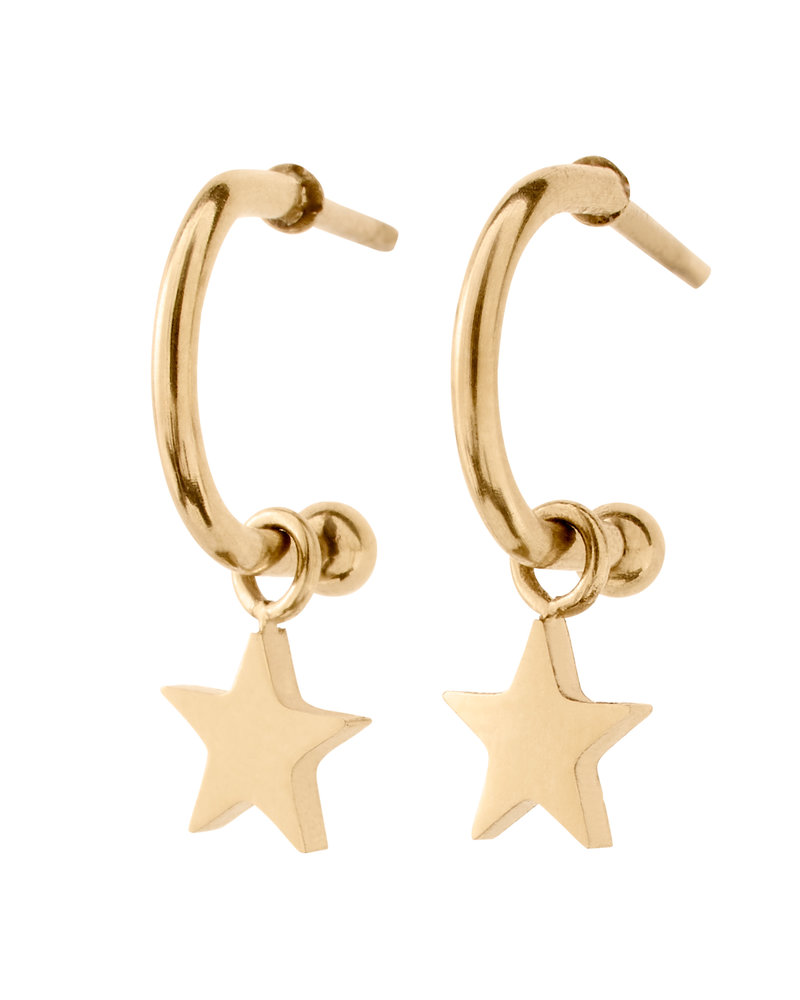 EDBLAD  Bright Night Star oorbellen   Kleur goud