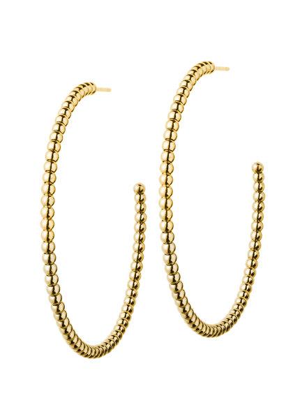 Domino oorbellen goud