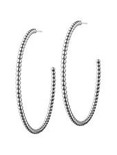 Domino oorbellen zilver