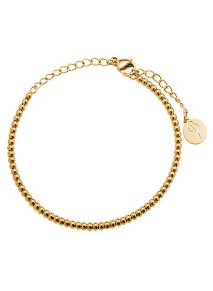 Domino armband goud